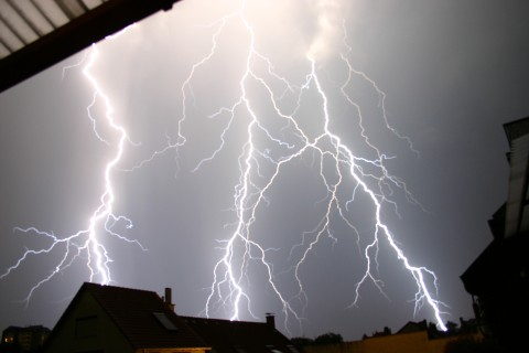 mein erstes eigenes Blitz-Foto
