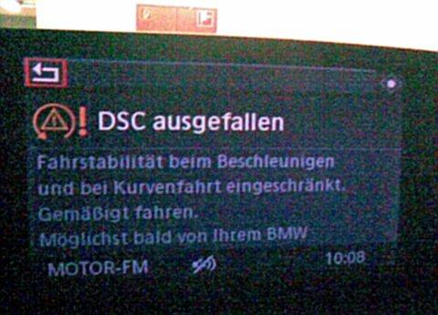 Screenshot vom ausgefallenen DSC