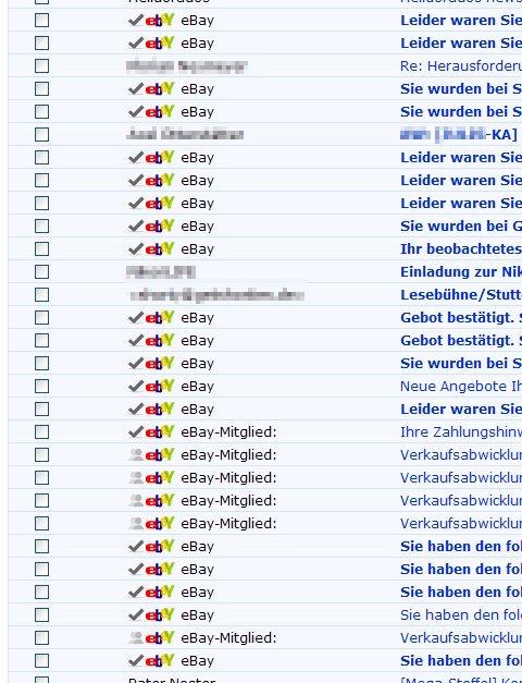 meine eBay-eMails, es werden immer mehr....