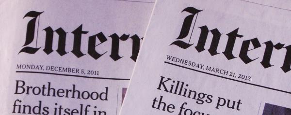Zeitung, genau ein Jahr alt