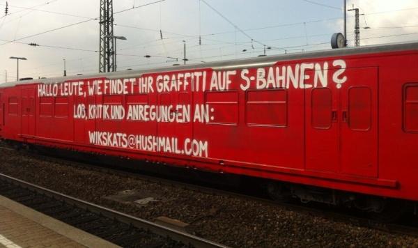 Graffiti-S-Bahn