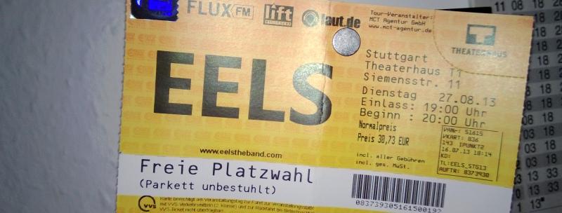 mein Eels-VVK-Konzert-Ticket!