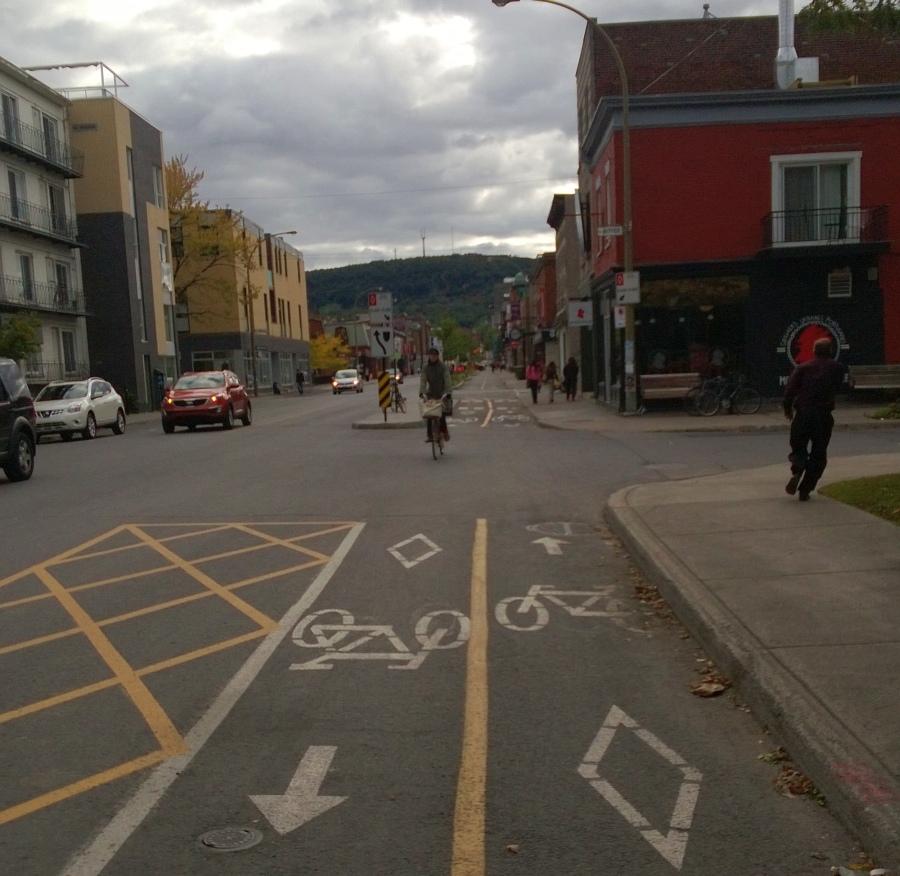 Fahrrad-Schnellstrasse in Montreal