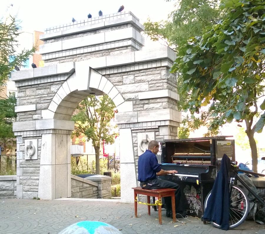 öffentliches Klavier in Montreal
