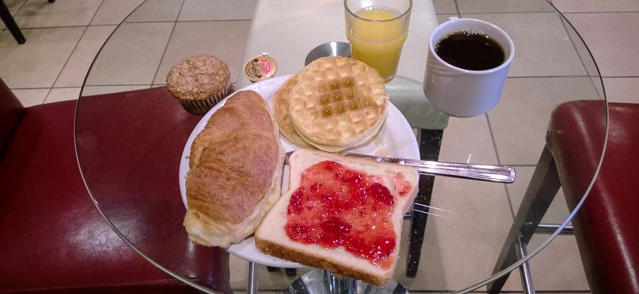 Montreal, tägliches Frühstück