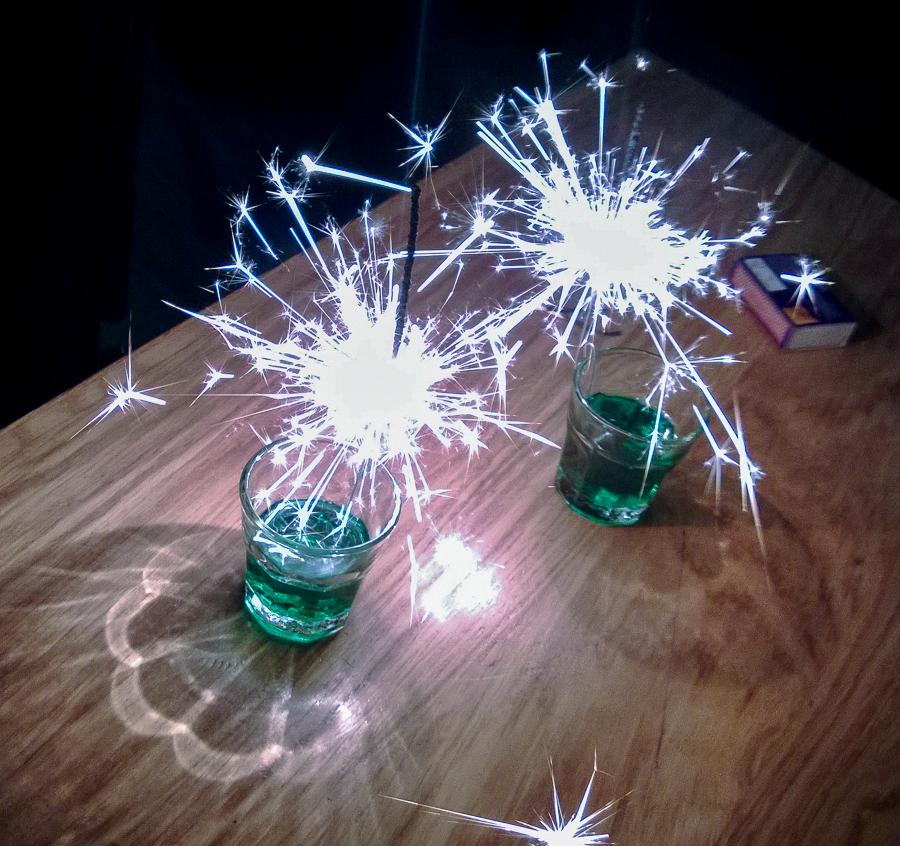 Gin-Pfeffi-Wunderkerze