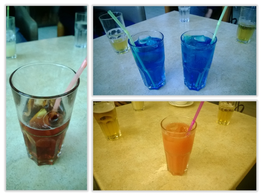 Taste of Malta und farbige Getränke