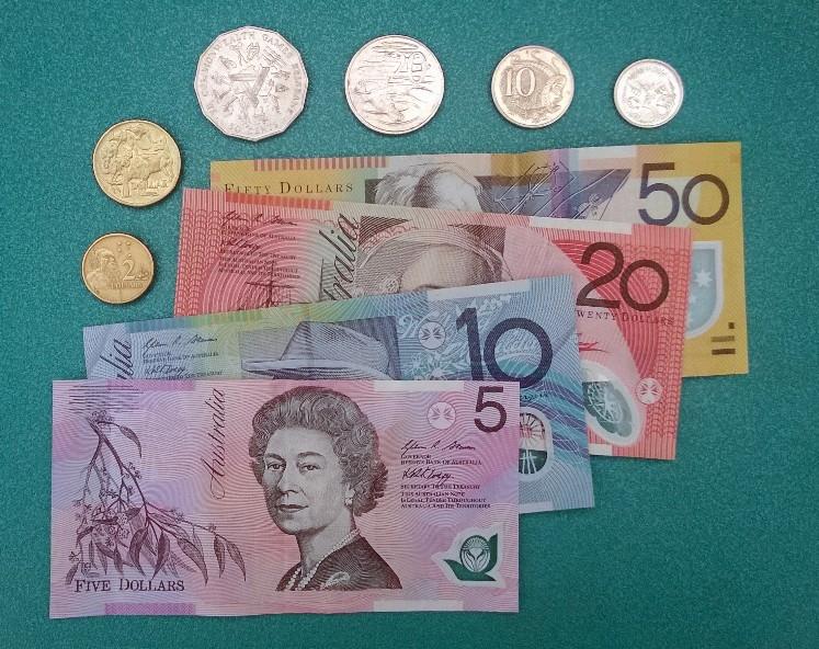 australisches, buntes Geld