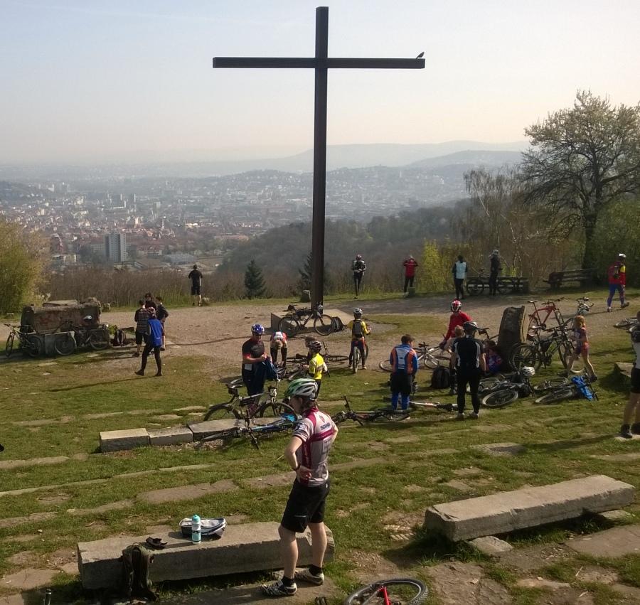 Mountainbike-Festival Sternfahrt: Pause auf dem Birkenkopf