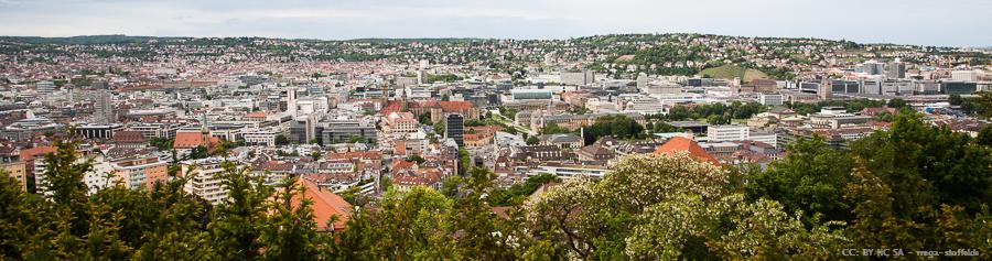 Blick vom Schloss Reitzenstein über Stuttgart