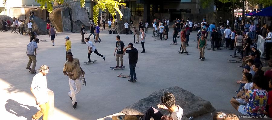 die 90er - eine Skateboarder-Horde