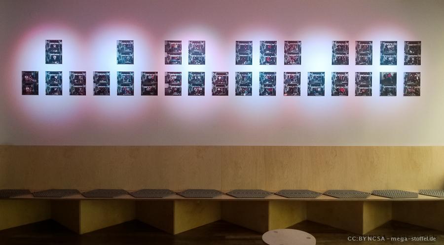 die Ausstellung: vorher-nachher