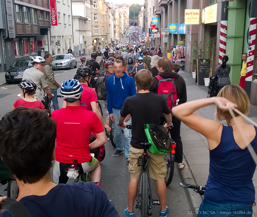 Critical Mass Stuttgart, September 2014