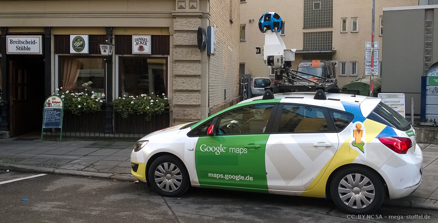 Google Street View Auto in Stuttgart