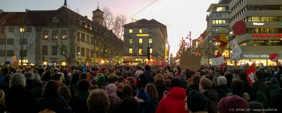 No Pegida Demo in Stuttgart