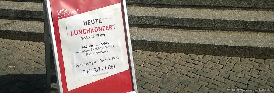 Lunchkonzert in der Stuttgarter Oper