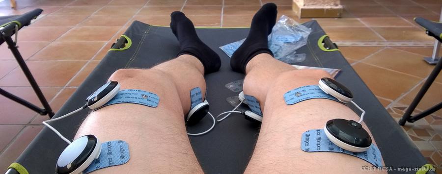 Muskelentspannung-/Aufbau durch Strom