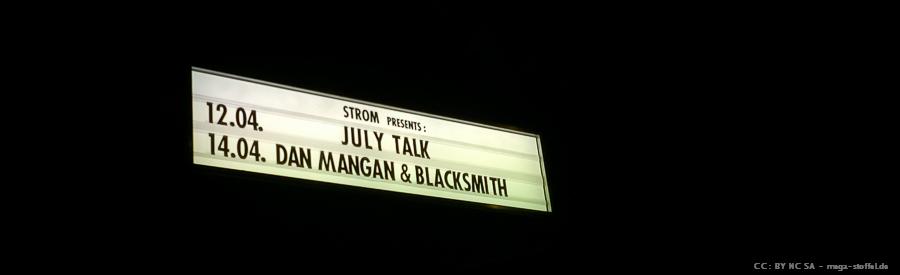 July Talk Ankündigung