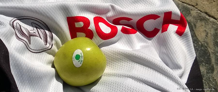 Bosch Trikot und Bosch Äpfel