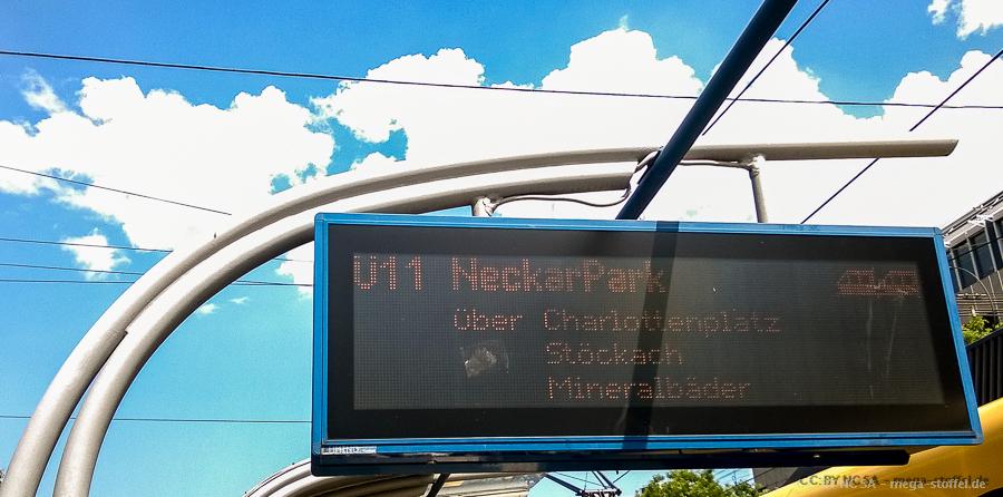 Ü-Bahn in Stuttgart - NoPegida!