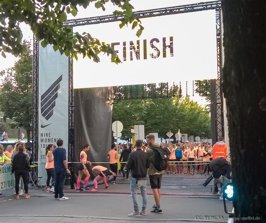 ein 10km Rennen in Stockholm, nur für Frauen