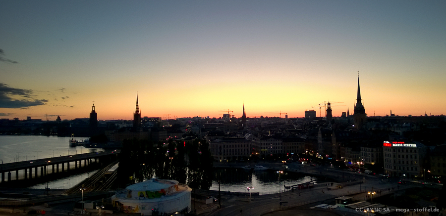 Stockholm bei Sonnenuntergang