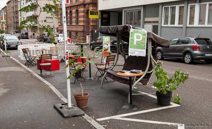 Park(ing) Day Stuttgart 2015 - aufgebaut