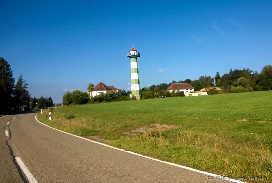 Leuchtturm auf der letzten Radtour 2015