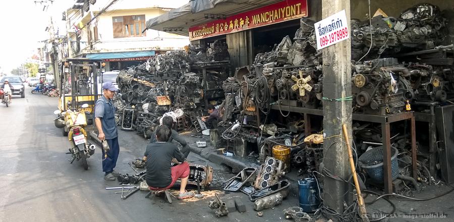Bangkok, im Motoren-Viertel