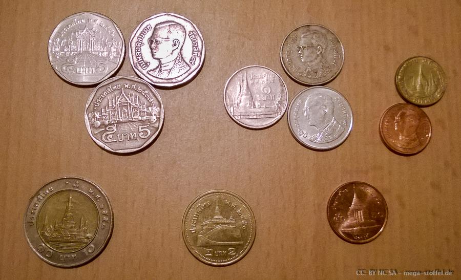 Thailändisches Geld, Münzen