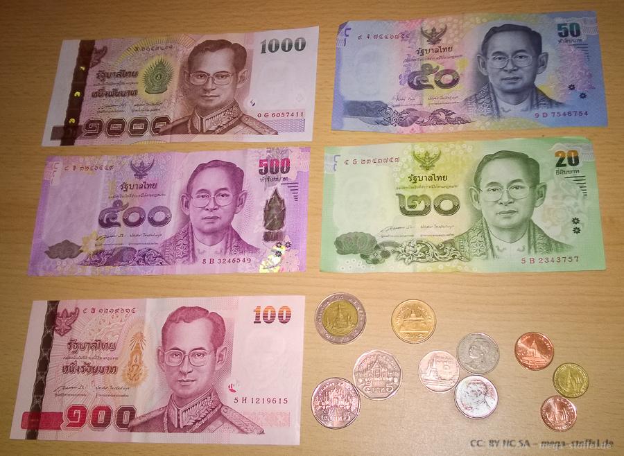 Thailändisches Geld, Scheine