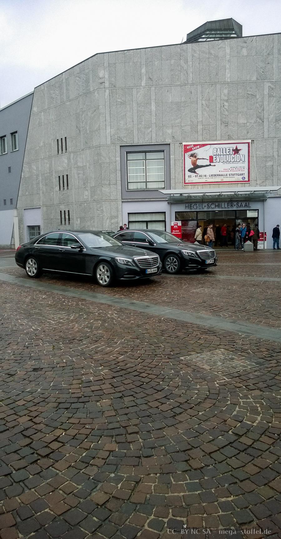 SPD Privat-Parkplatz mitten auf dem Platz