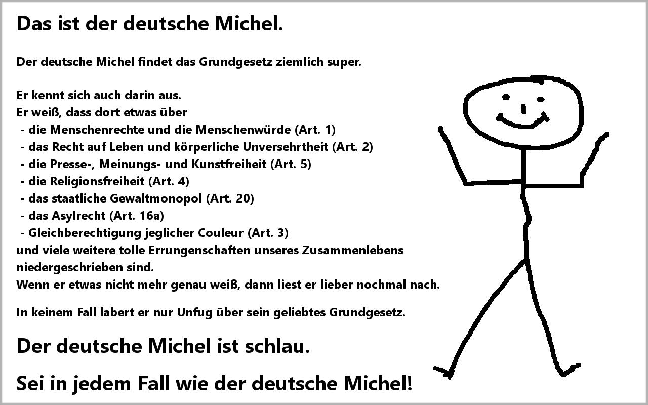 Deutscher Michel und das Grundgesetz #belikebill