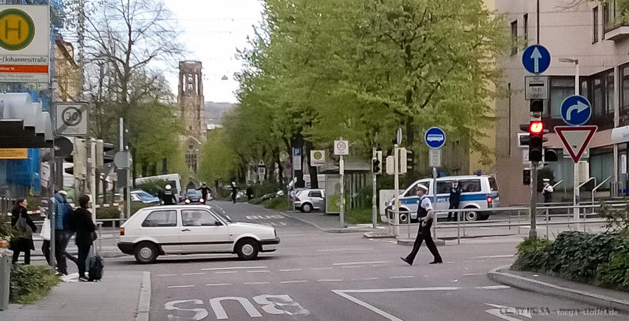 Kofferfund in der Johannesstrasse!