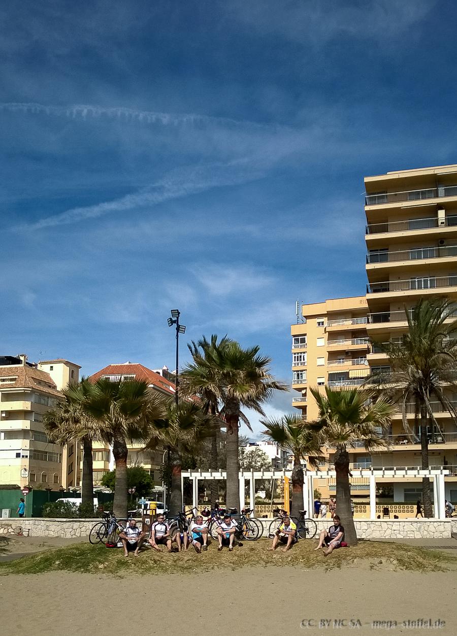 Gruppenbild am Strand