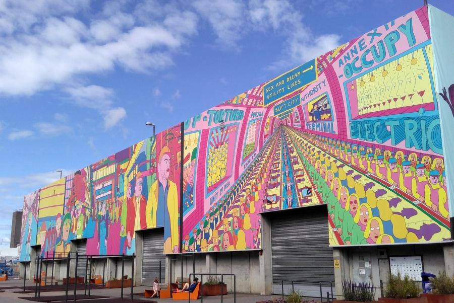 Wandmalerei in Oslo