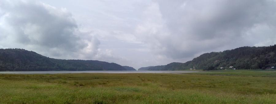 schwedische Landschaft vor dem Regen