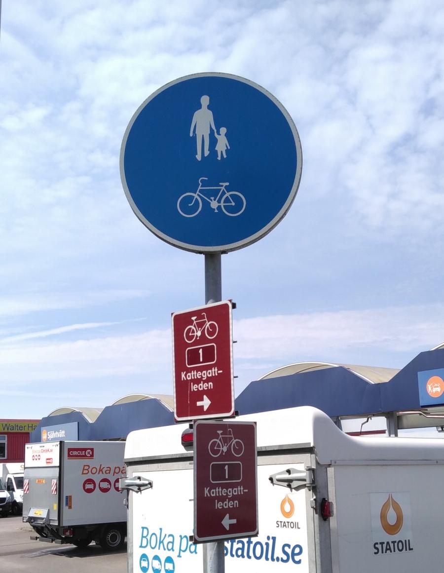 endlich wieder ein Schild für den Nordsee-Radwanderweg