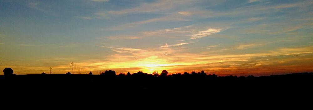 ein nur Sonnenuntergang