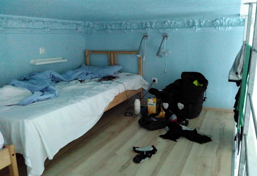 mein Bett in der Jugendherberge