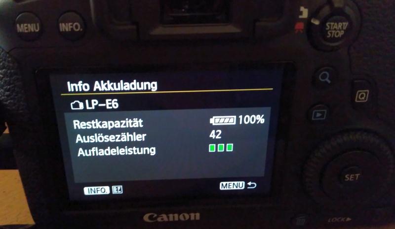 Canon Akku 100% voll!