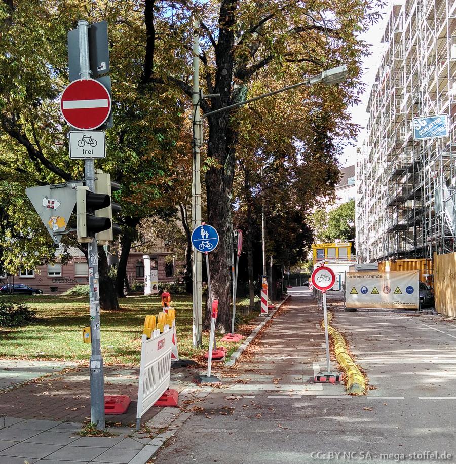 Radfahrer-Paradoxon in Stuttgart